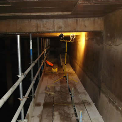 Confined spaces scaffolding uk