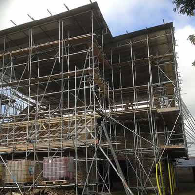 Temporary roof cover scaffolding uk