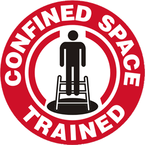 Confined space scaffolding trained